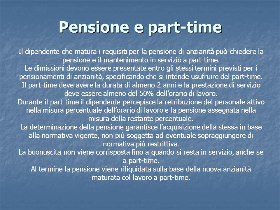 Pensione e part-time