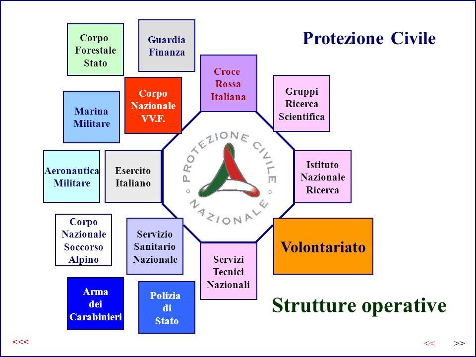 Strutture operative Protezione Civile Volontariato Guardia Finanza