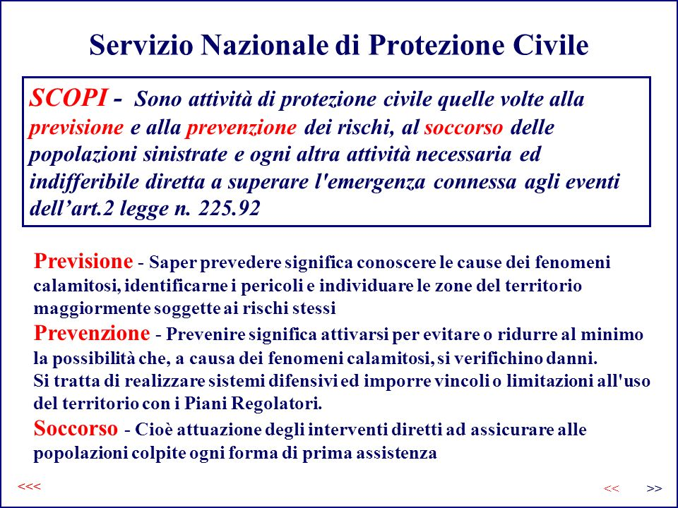 Servizio Nazionale di Protezione Civile