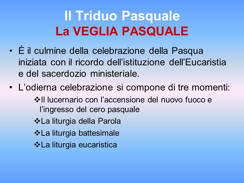 Il Triduo Pasquale La VEGLIA PASQUALE