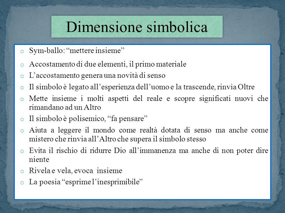 Dimensione simbolica Sym-ballo: mettere insieme