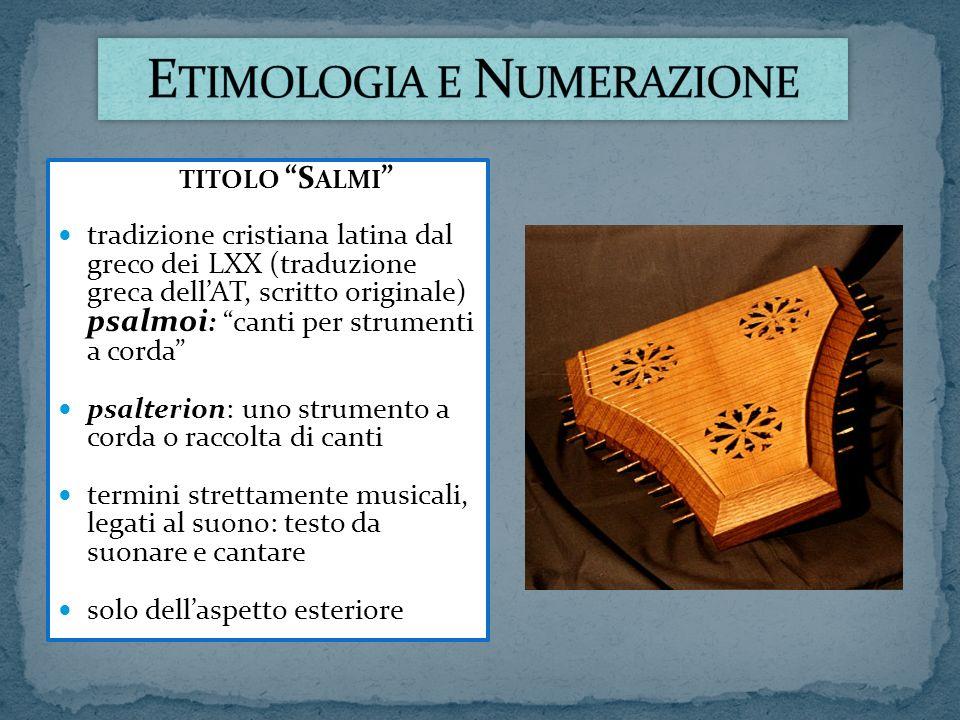 Etimologia e Numerazione