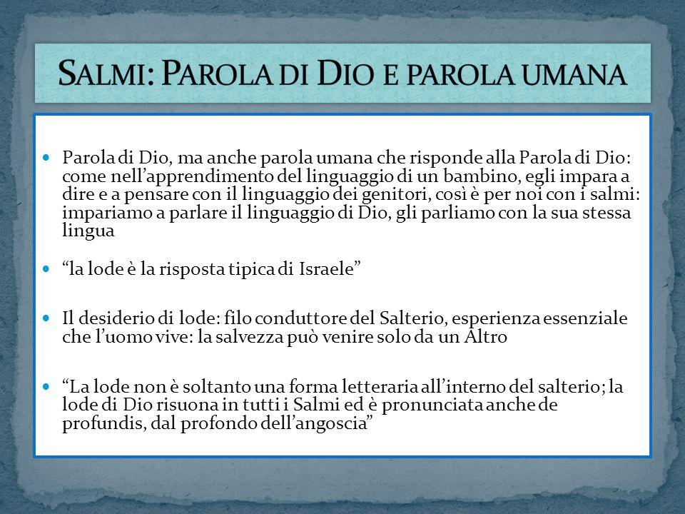 Salmi: Parola di Dio e parola umana