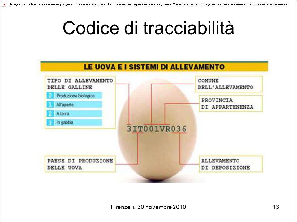 Codice di tracciabilità