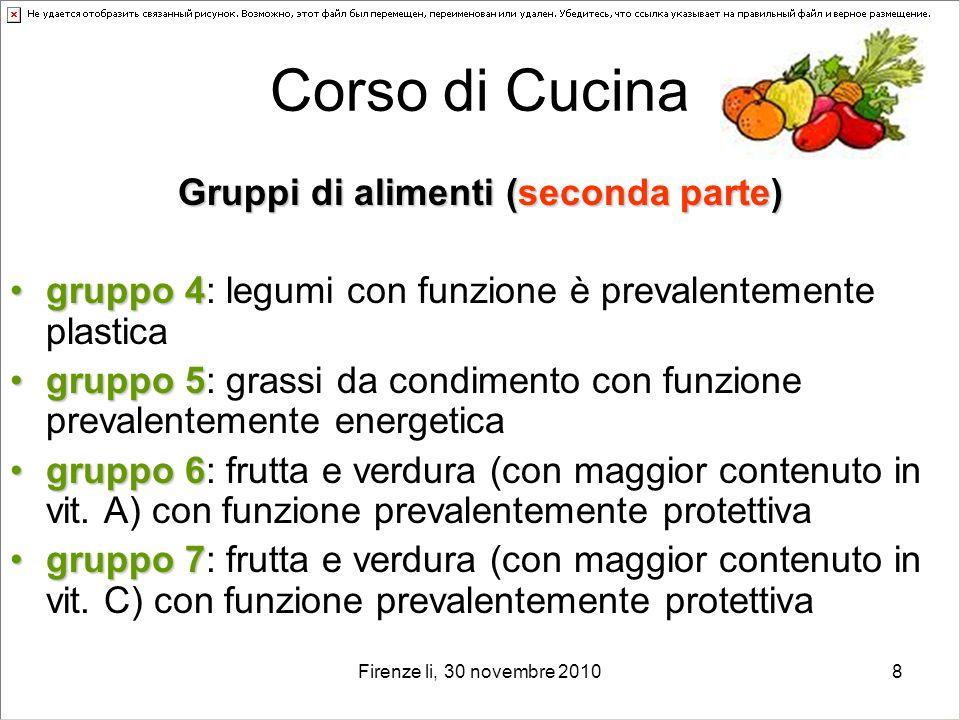 Gruppi di alimenti (seconda parte)