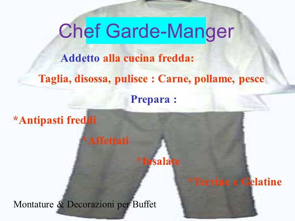 Chef Garde-Manger Addetto alla cucina fredda:
