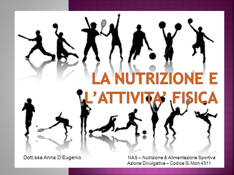 La Nutrizione e L'attivita' fisica