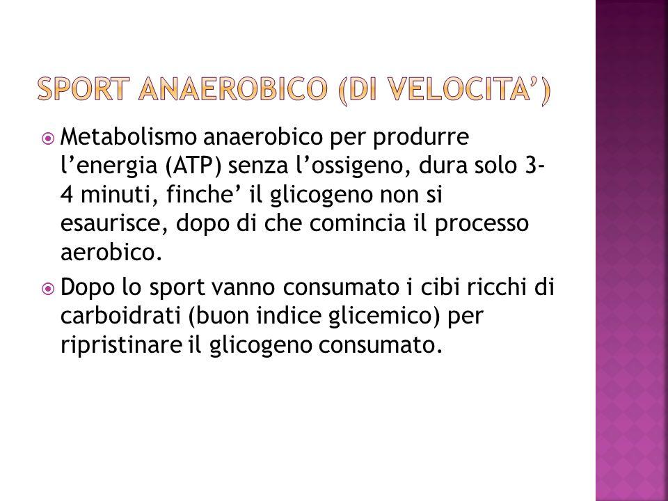 Sport Anaerobico (di velocita')