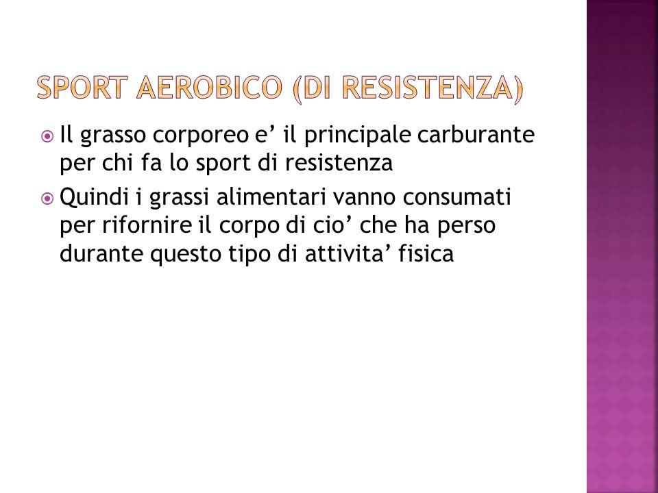 Sport aerobico (di resistenza)