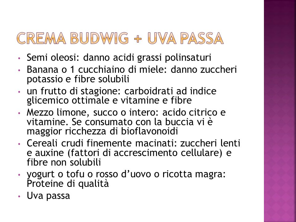 Crema Budwig + uva passa