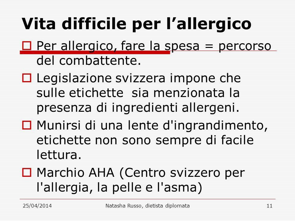 Vita difficile per l'allergico