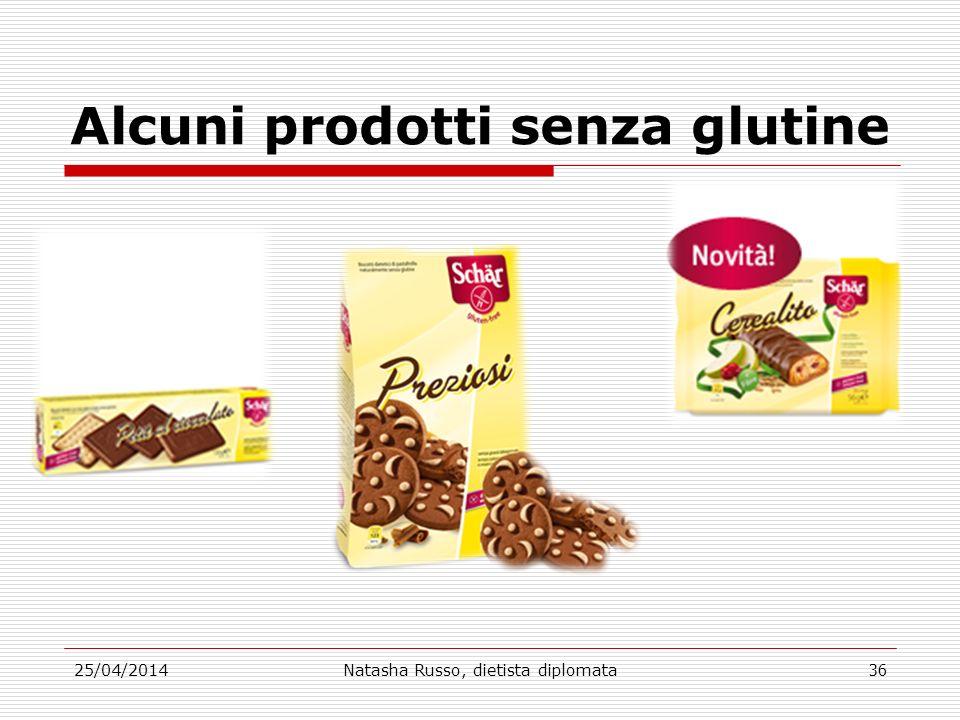 Alcuni prodotti senza glutine