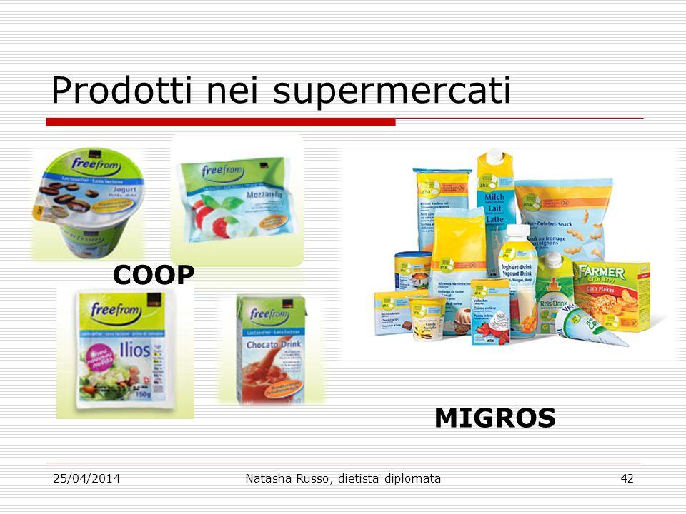 Prodotti nei supermercati