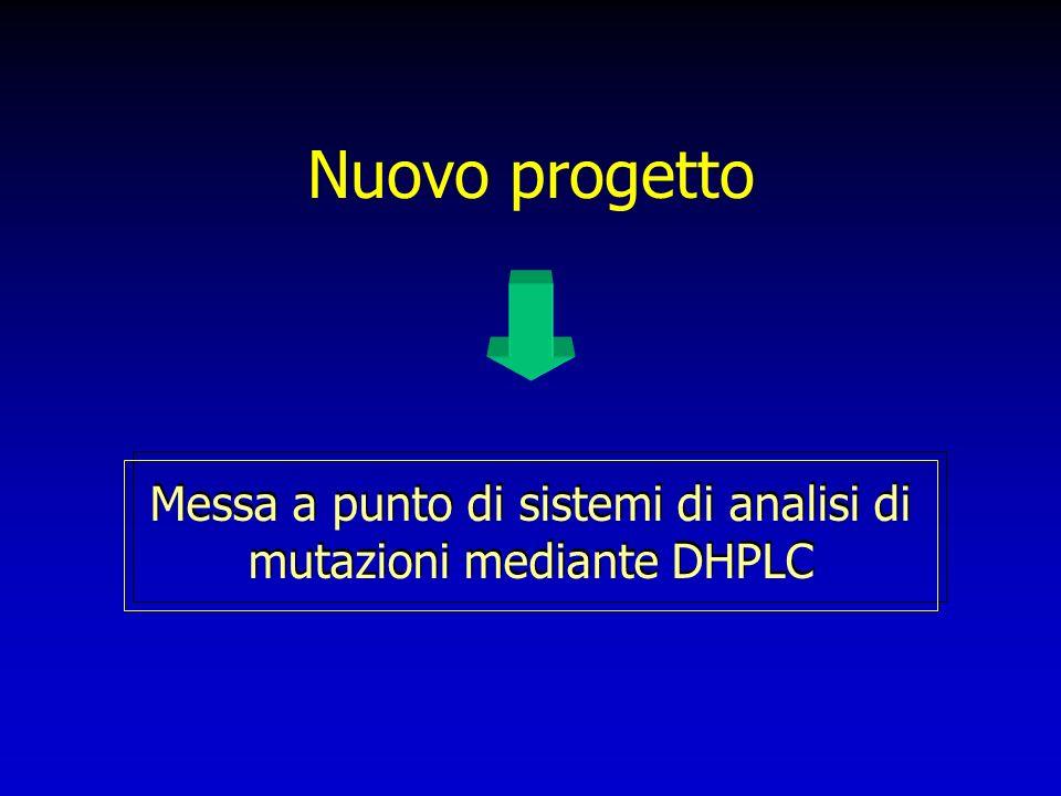 Messa a punto di sistemi di analisi di mutazioni mediante DHPLC