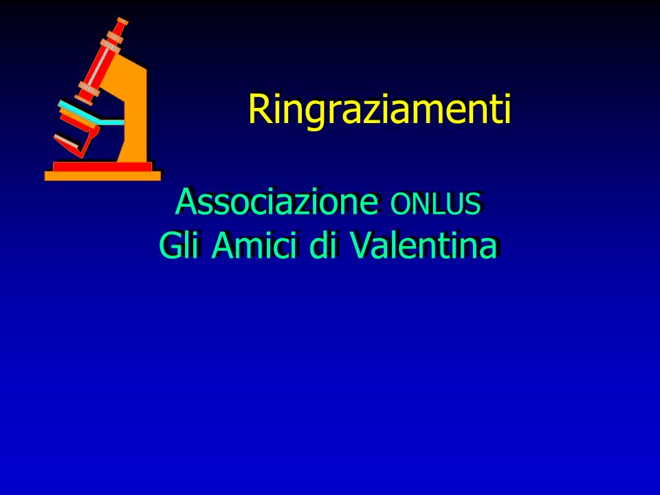 Ringraziamenti Associazione ONLUS Gli Amici di Valentina