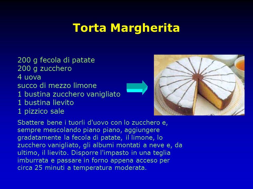Torta Margherita 200 g fecola di patate 200 g zucchero 4 uova