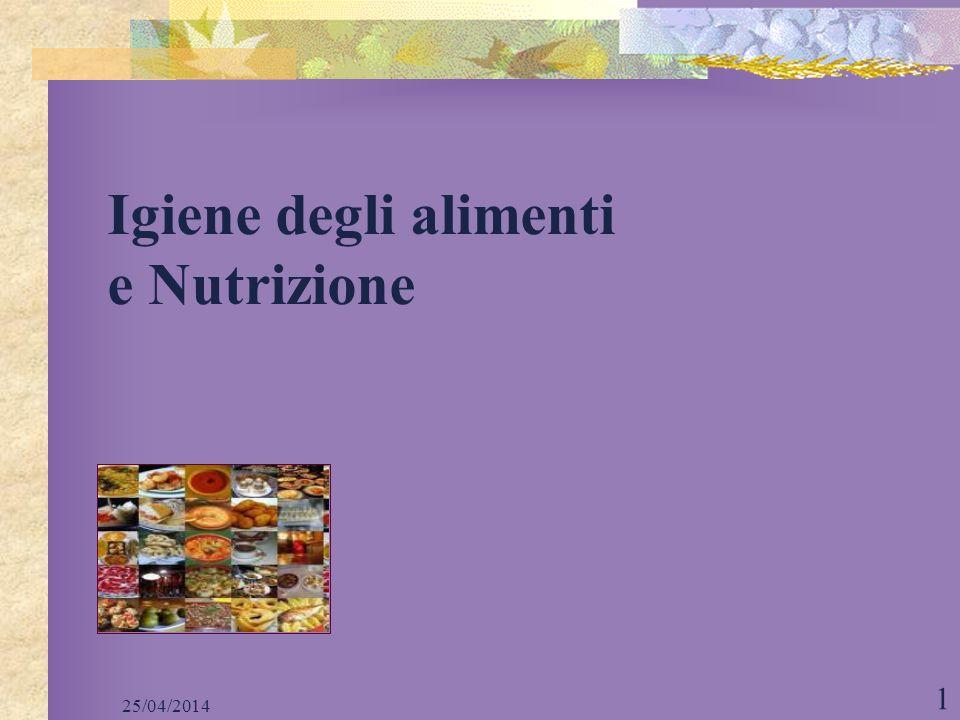 Igiene degli alimenti e Nutrizione
