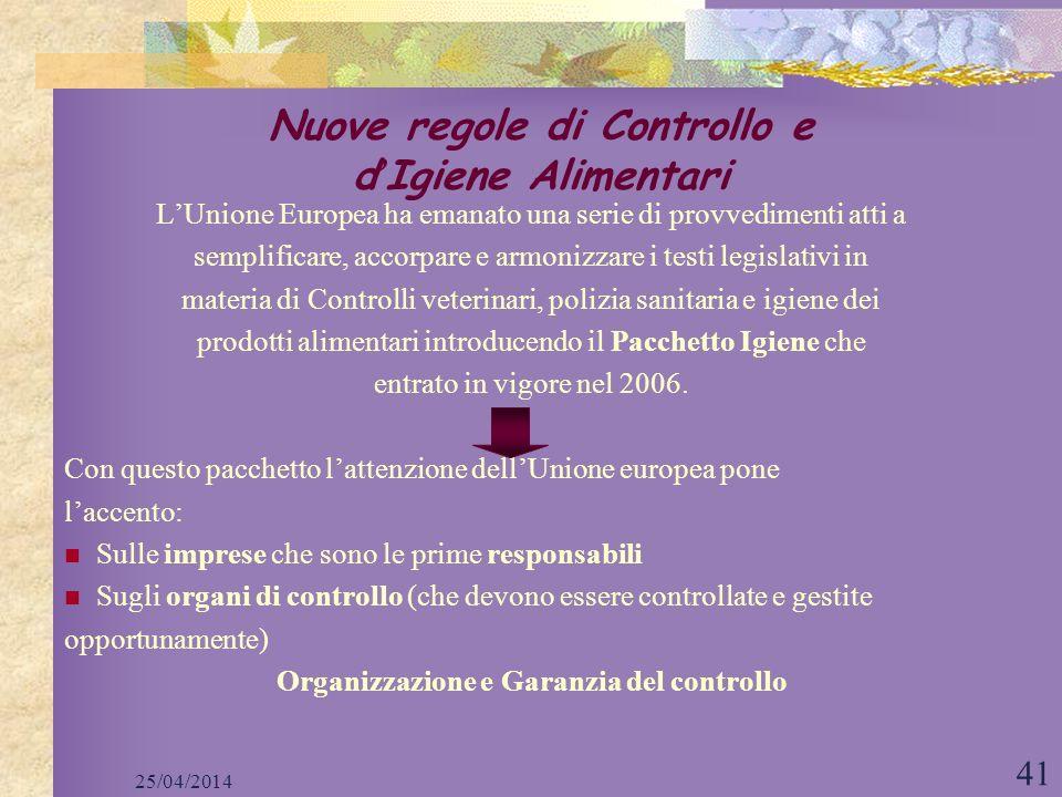 Nuove regole di Controllo e d'Igiene Alimentari