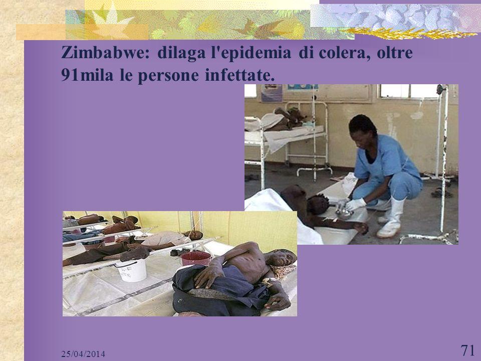 Zimbabwe: dilaga l epidemia di colera, oltre 91mila le persone infettate.