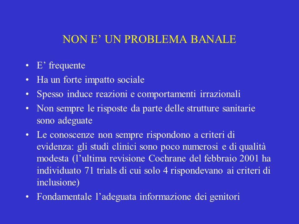 NON E' UN PROBLEMA BANALE