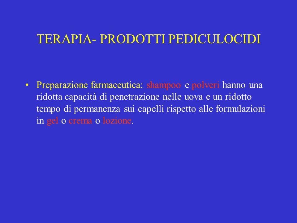 TERAPIA- PRODOTTI PEDICULOCIDI