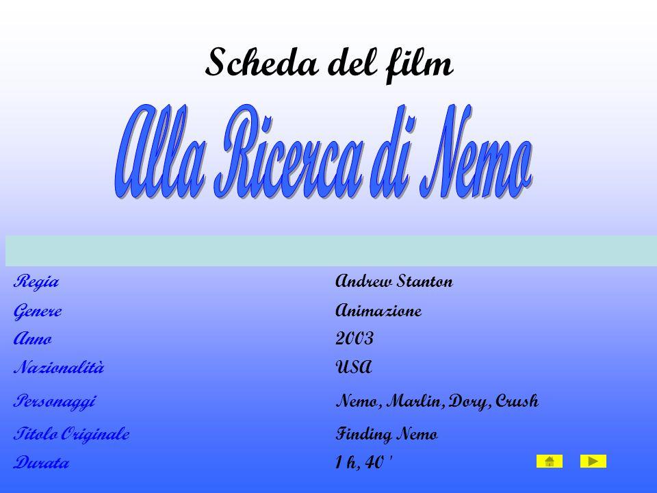 Scheda del film Alla Ricerca di Nemo Regia Andrew Stanton Genere