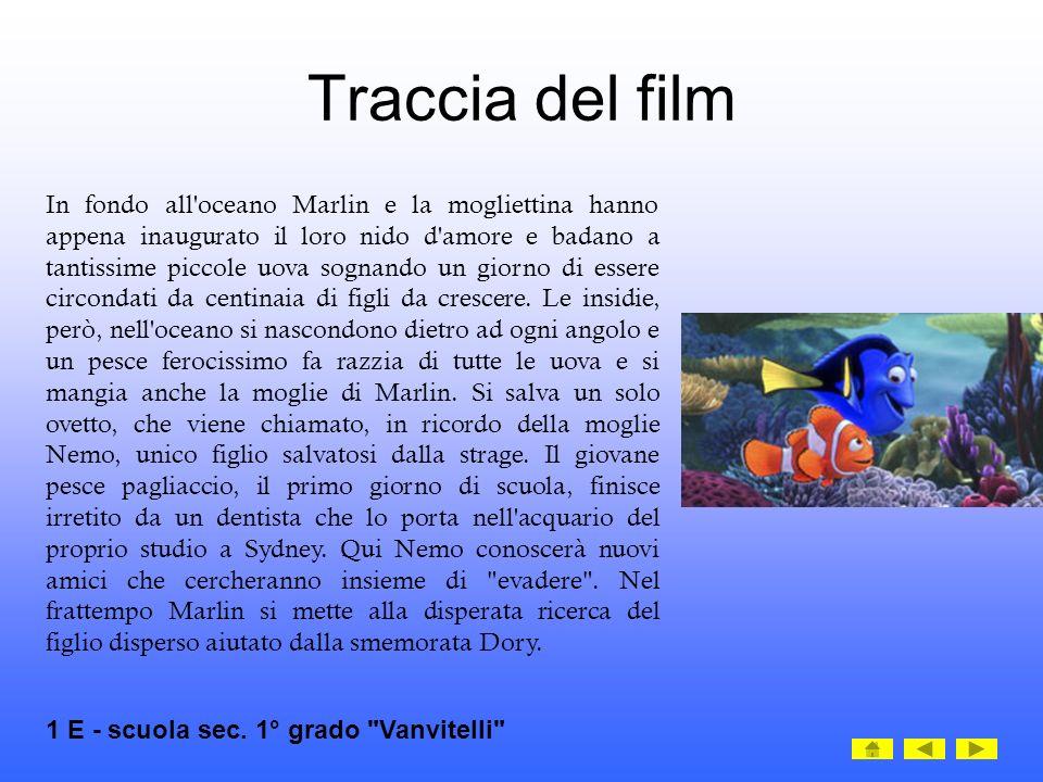 Traccia del film