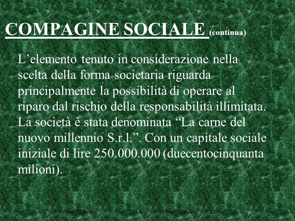 COMPAGINE SOCIALE (continua)
