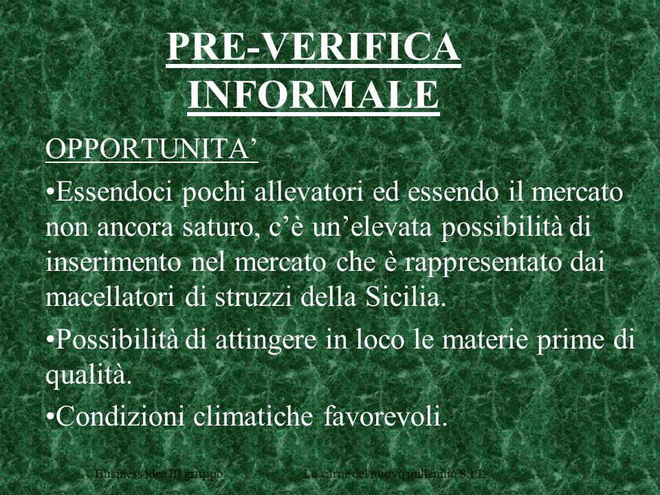 PRE-VERIFICA INFORMALE