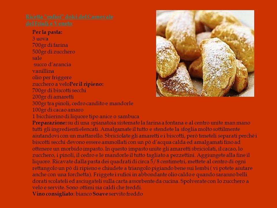 Ricetta rufioi dolci del Carnevale del Friuli e Veneto