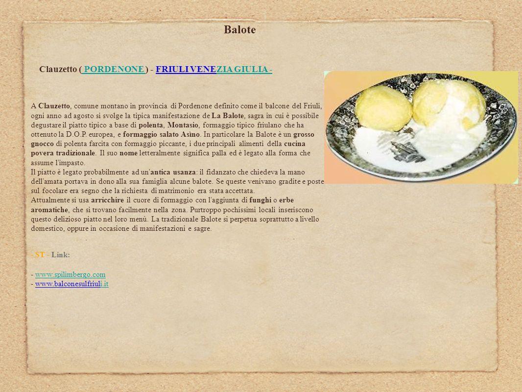 Balote Clauzetto ( PORDENONE ) - FRIULI VENEZIA GIULIA -