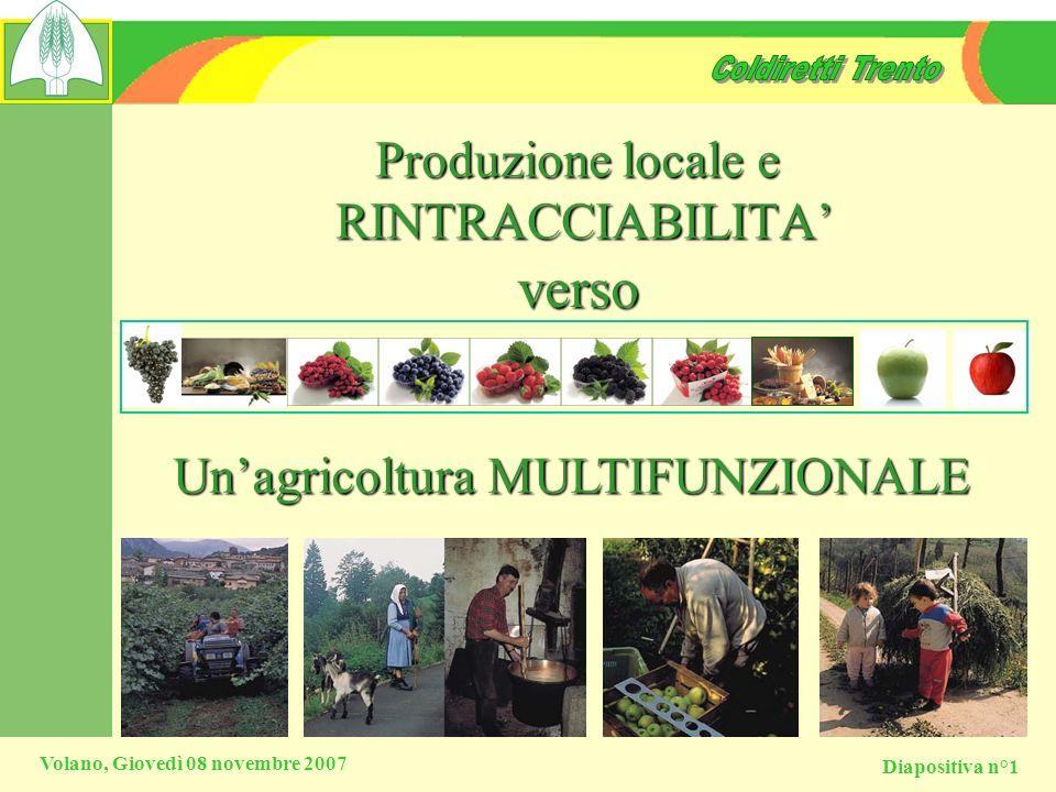 Produzione locale e RINTRACCIABILITA'