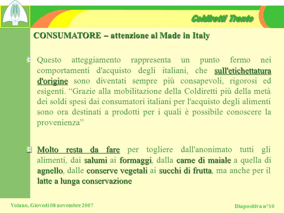 CONSUMATORE – attenzione al Made in Italy