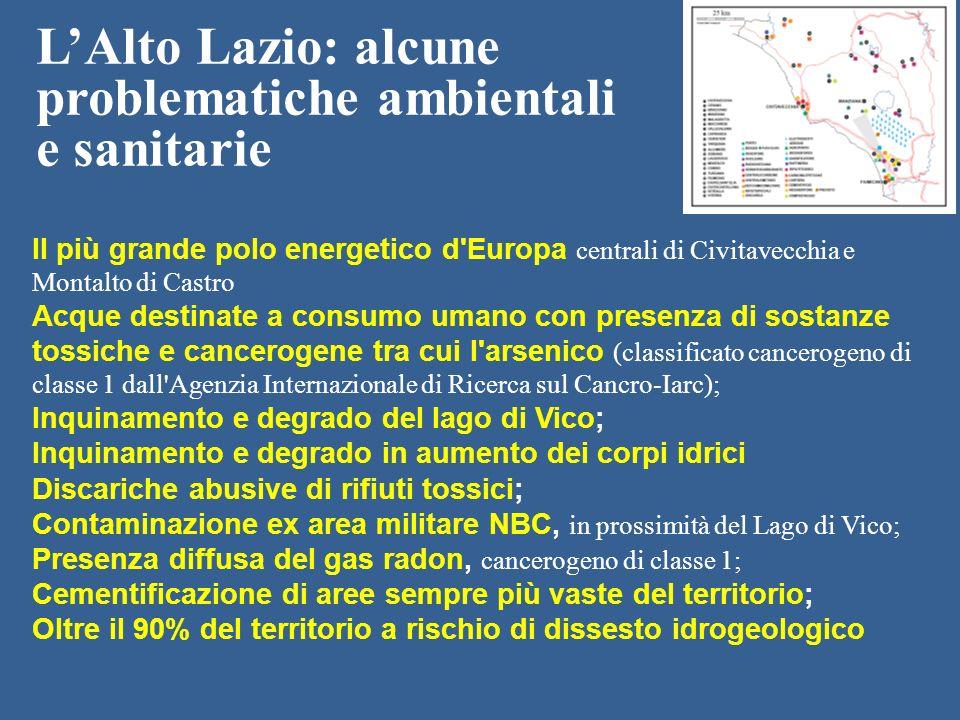 L'Alto Lazio: alcune problematiche ambientali e sanitarie