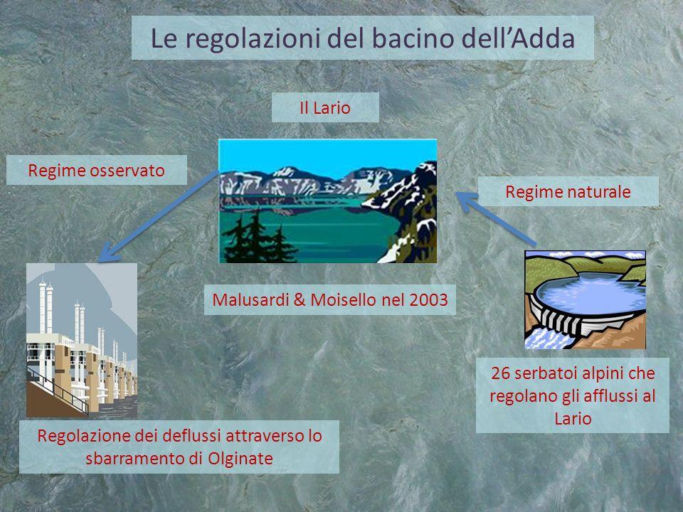 Le regolazioni del bacino dell'Adda