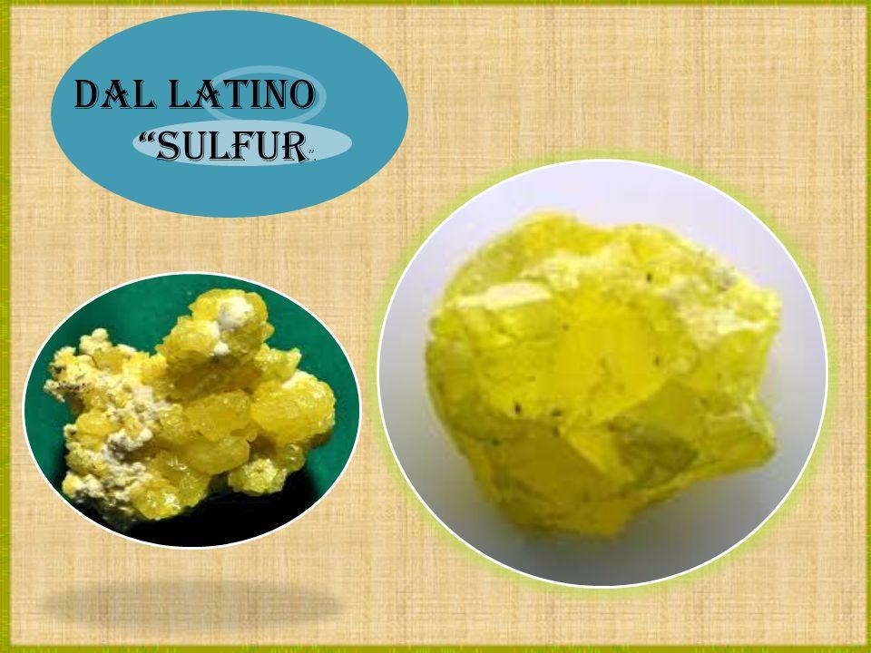 Dal latino sulfur .