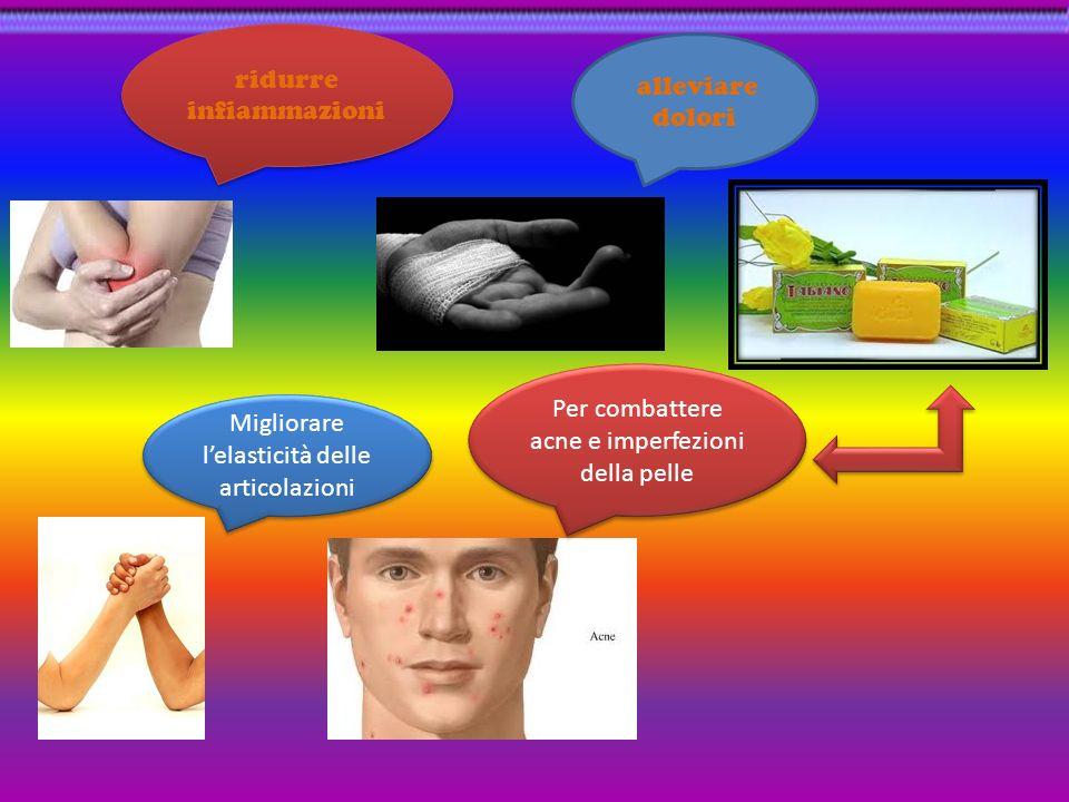 ridurre infiammazioni alleviare dolori
