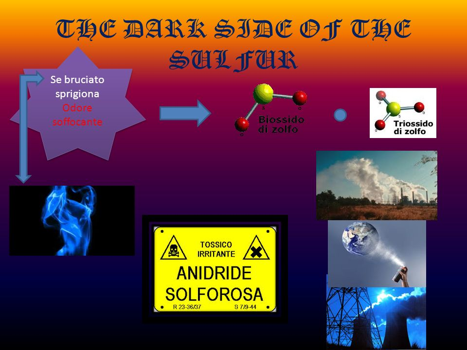 THE DARK SIDE OF THE SULFUR