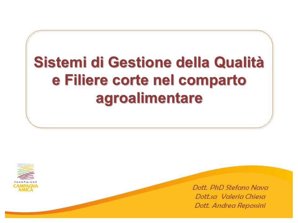 Sistemi di Gestione della Qualità e Filiere corte nel comparto agroalimentare