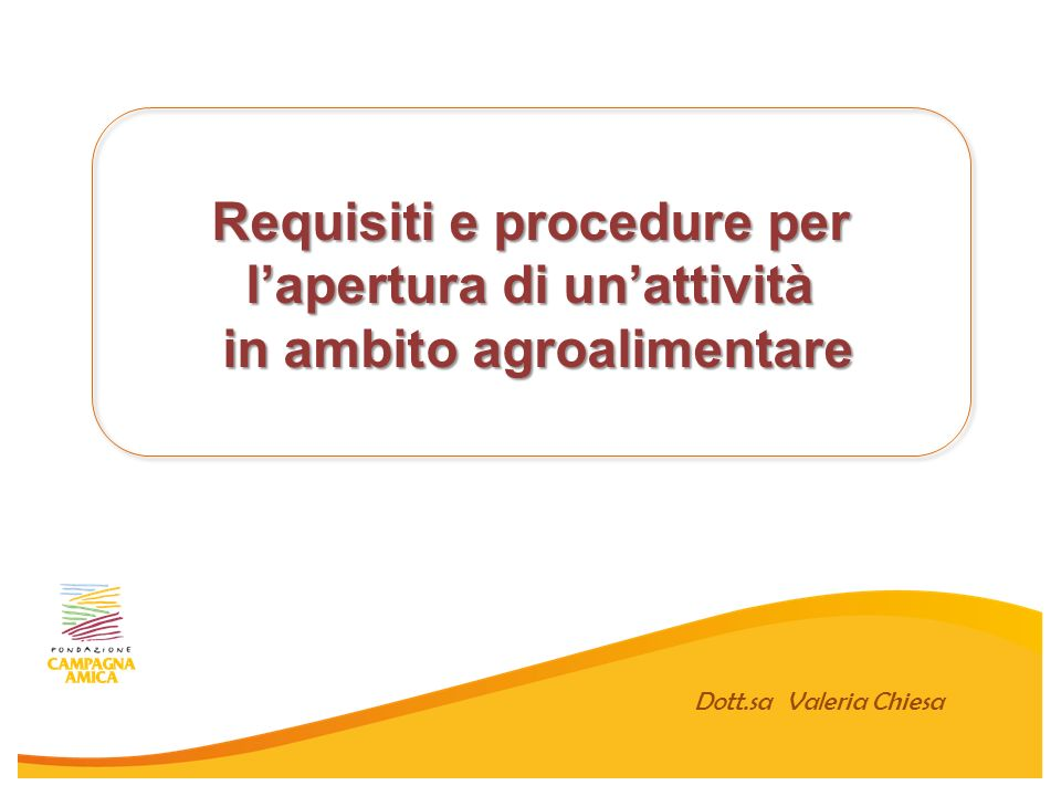 Requisiti e procedure per l'apertura di un'attività