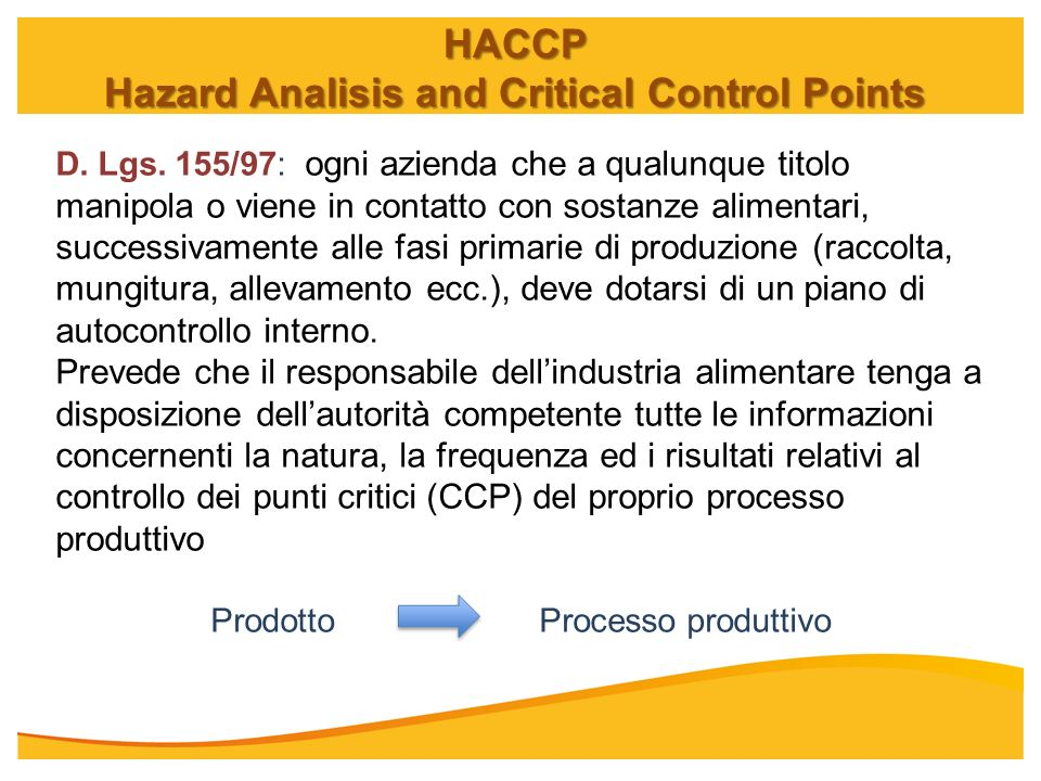 Hazard Analisis and Critical Control Points