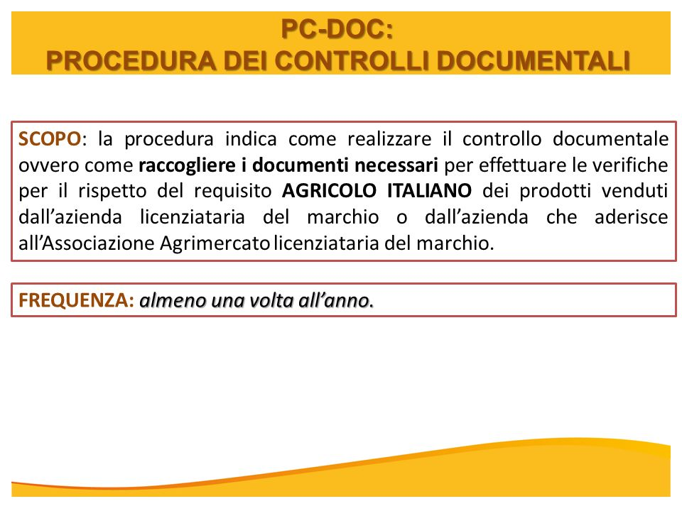 PROCEDURA DEI CONTROLLI DOCUMENTALI