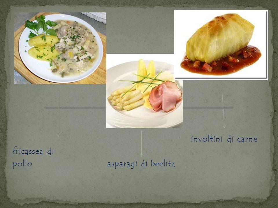 involtini di carne fricassea di pollo asparagi di beelitz
