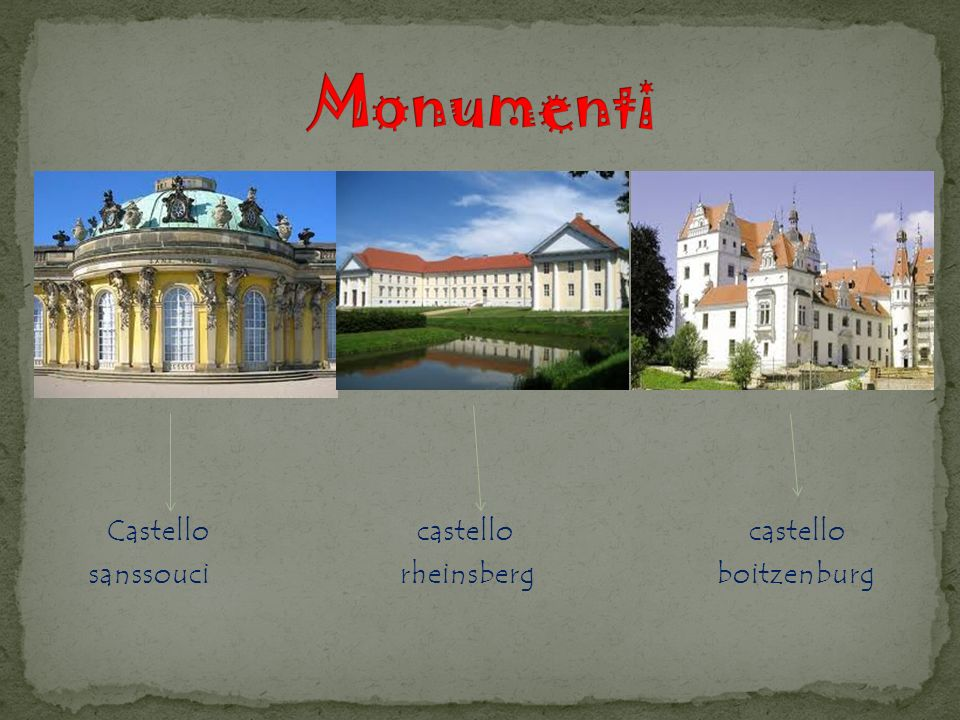 Castello castello castello sanssouci rheinsberg boitzenburg