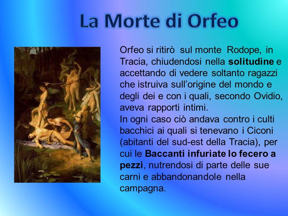 La Morte di Orfeo