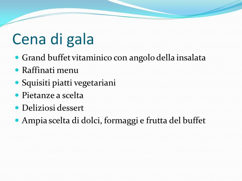 Cena di gala Grand buffet vitaminico con angolo della insalata