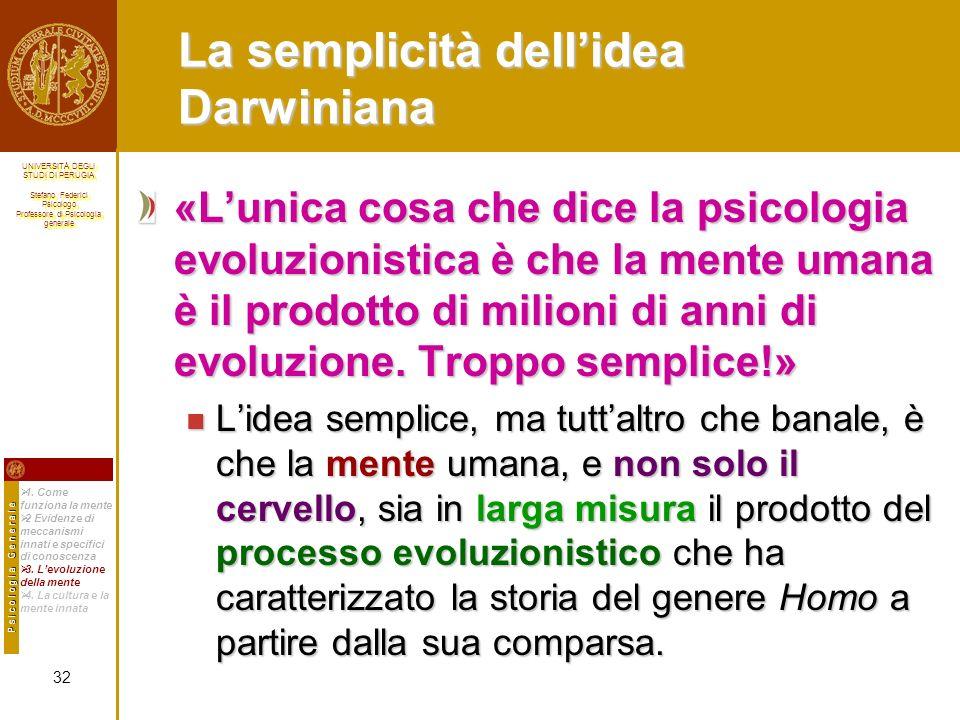 La semplicità dell'idea Darwiniana