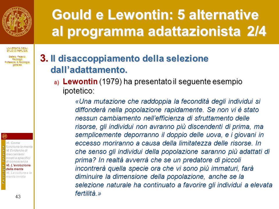 Gould e Lewontin: 5 alternative al programma adattazionista 2/4