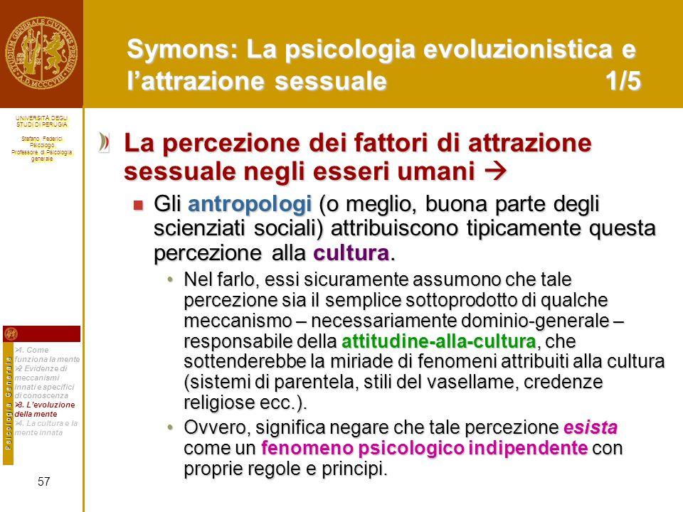 Symons: La psicologia evoluzionistica e l'attrazione sessuale 1/5