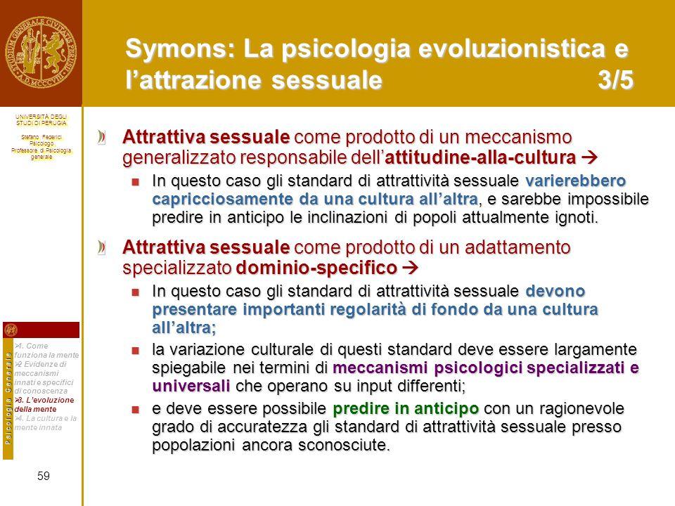 Symons: La psicologia evoluzionistica e l'attrazione sessuale 3/5